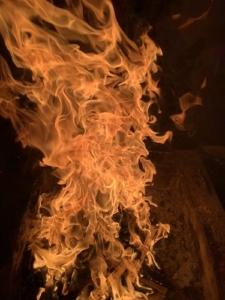 2020年8月ご神木プージャの炎