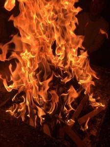 2020年12月ご神木プージャの炎