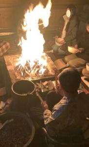 2021年2月ご神木プージャの炎